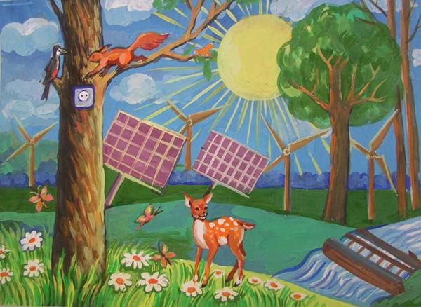 Детские рисунки картинки о природе и животных