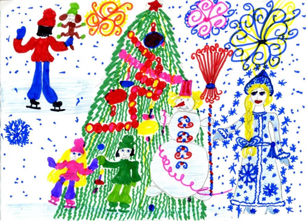 Конкурсы детских рисунков о новом годе