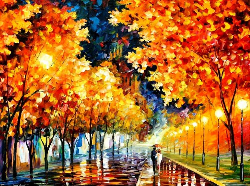 на рисунки осень листьев