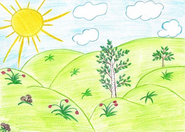 Категория рисунки на тему лето